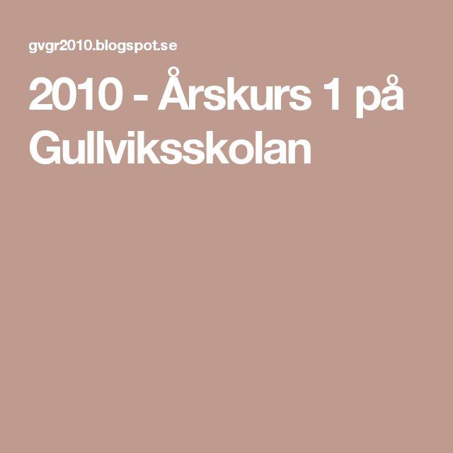2010 - Årskurs 1 på Gullviksskolan