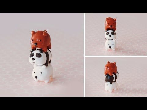 Stack of Bears Polymer Clay Tutorial | We Bare Bears #bearstack - YouTube