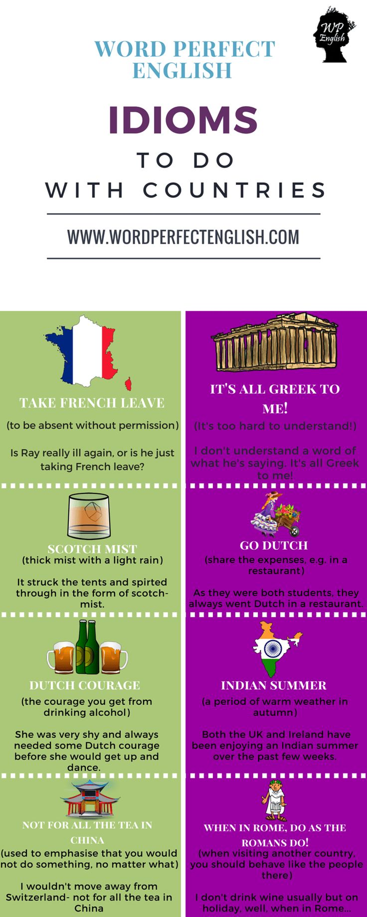 331 best do you speak english images on pinterest english our native teachers at word perfect english have chosen their favourite idioms for countries and colours and created 3 beautiful word lists fandeluxe Gallery