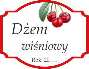 Naklejka na wiśniowy dżem