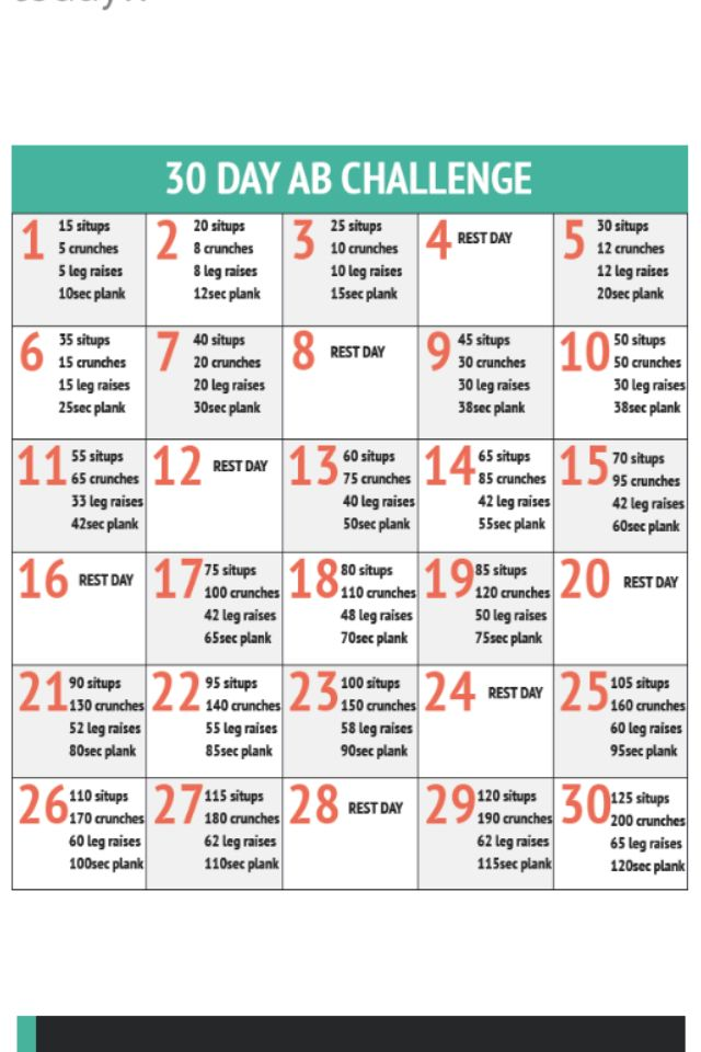 Great 30-day ab workout routine! Click on the pin to see some more great workout…