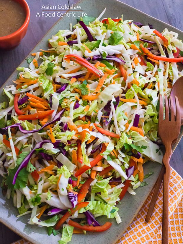 Asian Coleslaw Recipe - RecipeChart.com | Yummy Stuff for Dinner | Pi ...