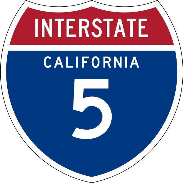 Interstate 5 (I-5) is a major north–south route of the Interstate Highway System in the U.S. state of California. It begins at the Mexico–United States border at the San Ysidro crossing, goes north across the length of California and crosses into Oregon south of the Medford-Ashland metropolitan area.