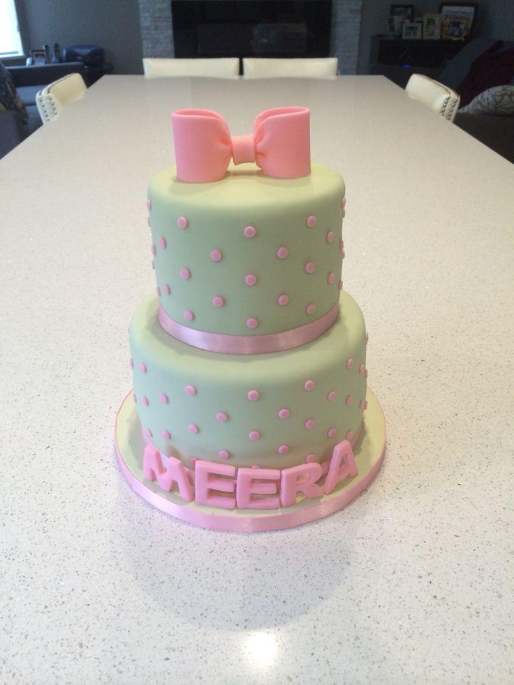 Pink & Green Birthday Cake