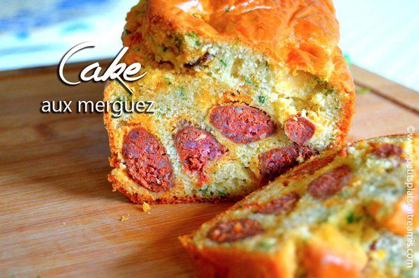 Cake aux merguez   Un cake aux merguez, moelleux et gourmand à souhait...  #recette #cake #merguez