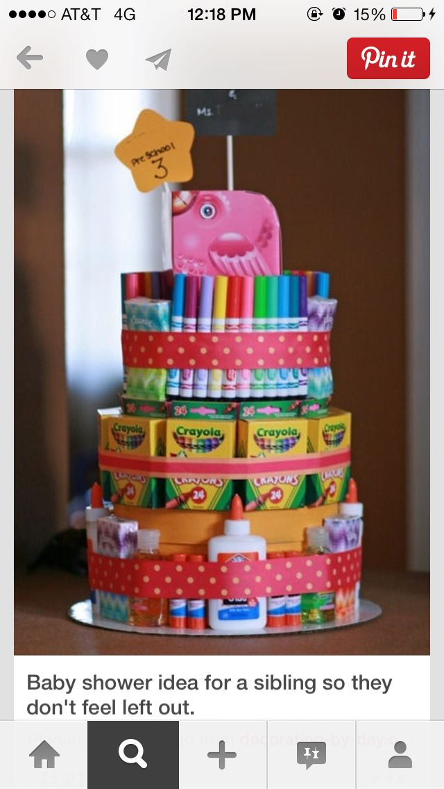 Diaper cake for sibling