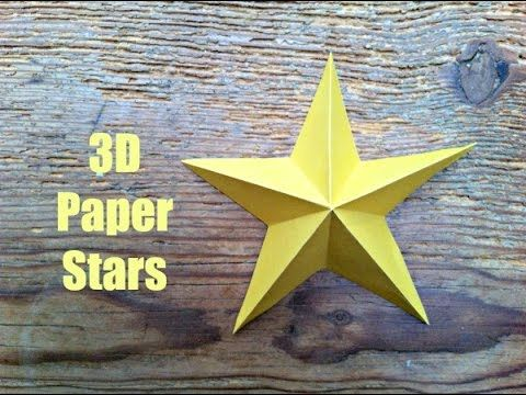 Simple 3d Paper Stars - make one or make 10.. irrespective they will look lovely decorating your walls!