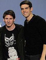 Lionel Messi and Richardo Kaka on FIFA World Best Player 2009