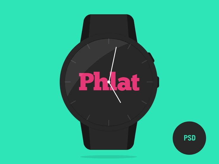 Phlat Watch PSD Template by Erik von Stackelberg
