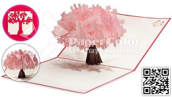 #Cherryflower #3D_Pop_up_card #3D_Greeting_card #3D_Pop_up_Greeting_card #Kirigamicard #Paper_cutting_greeting_card #Pop_up_card