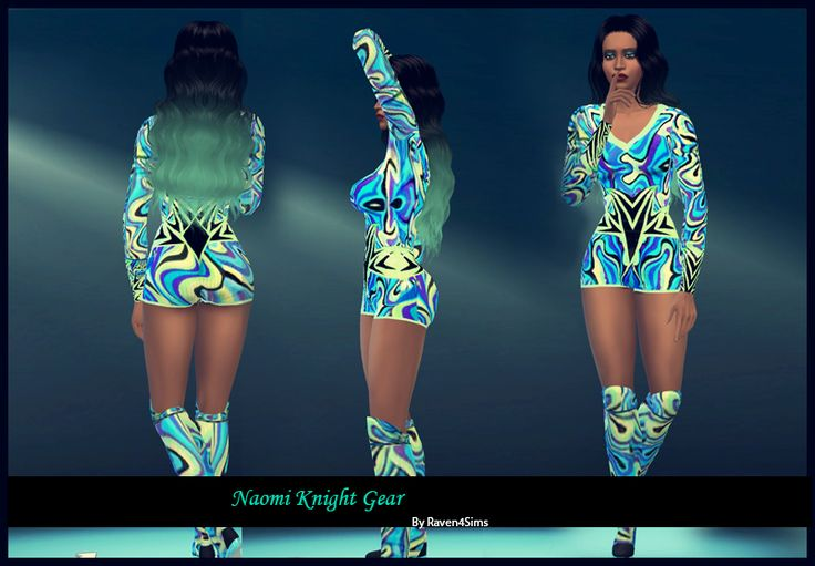sims4 WWE Naomi Knight Gear by Raven4sims