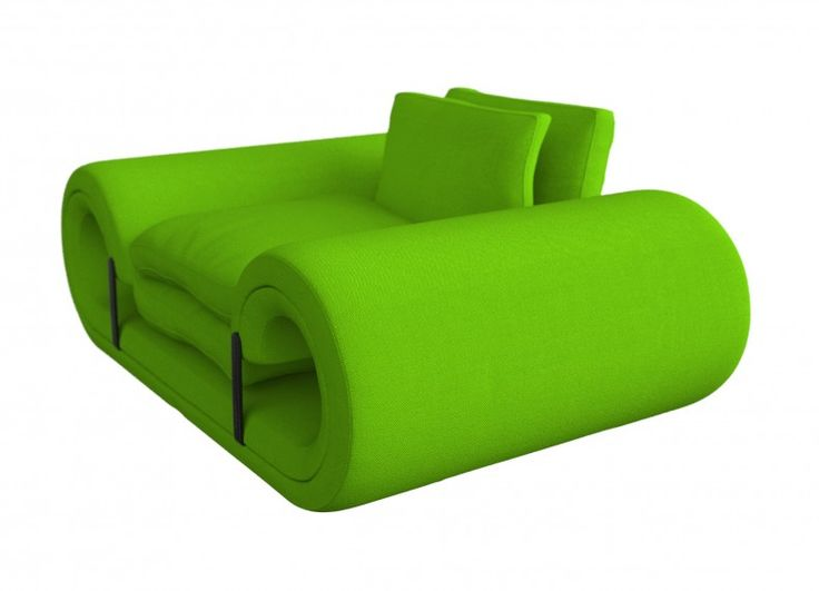 Formabilio - Pan Verde (Mr. Green in Czech language) is a chair that converts into a sofa or blanket to sleep.   Pan Green is conveniently presents curves positions nonconformist together with her or him and gates viable from pets. It works magically through the elastic straps that hold the mattress and pillows.