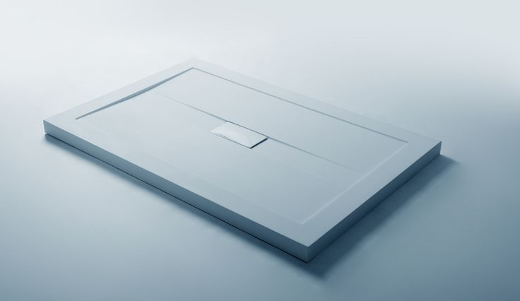 Shower Tray Size : 1200x800x50 mm Solidslim  White matt Solid Matt Drain Cover included Drain not included
