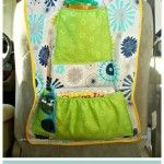 Free Sewing Pattern:  Insulated Car Seat Organizer