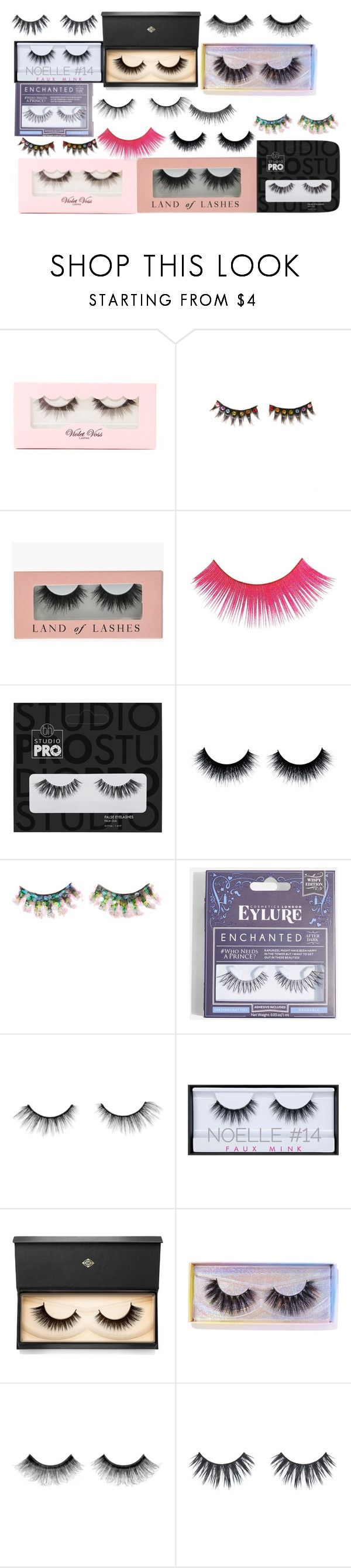 """""""random #1 eyelashes"""" by queenofquestions ❤ liked on Polyvore featuring beauty, Violet Voss, FromNicLove, Topshop, tarte, NYX, Huda Beauty, Lash Star Beauty, Featherella and Urban Decay"""