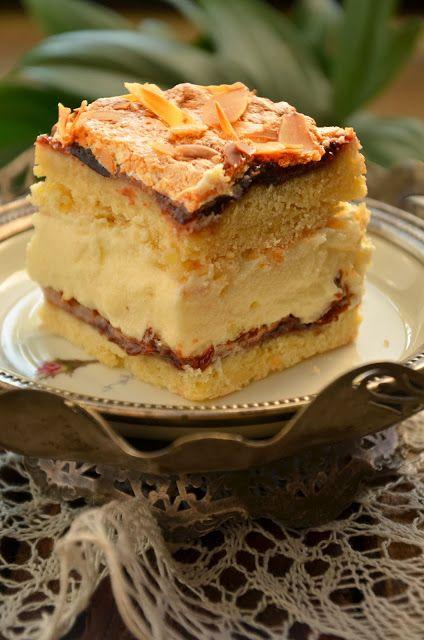 niebo na talerzu: Kruche ciasto z kremem czyli Pani Walewska
