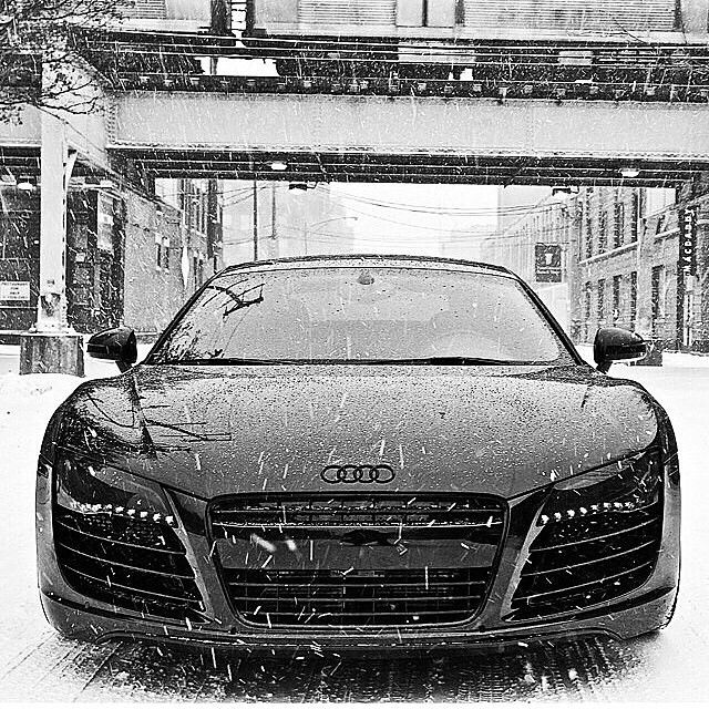 2017 Audi R8, #Audi #AudiR8 #Black #Snow Wallpaper, Winter, Image - Follow #extremegentleman for more pics like this!
