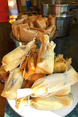 Recipe | Holiday Beef Tamales ~ This straightforward recipe takes 5-1/2 hours from start to finish. Tamales may be frozen up to 6 months in heavy-duty resealable plastic bags. To reheat, thaw in refrigerator and then microwave or steam until heated through.
