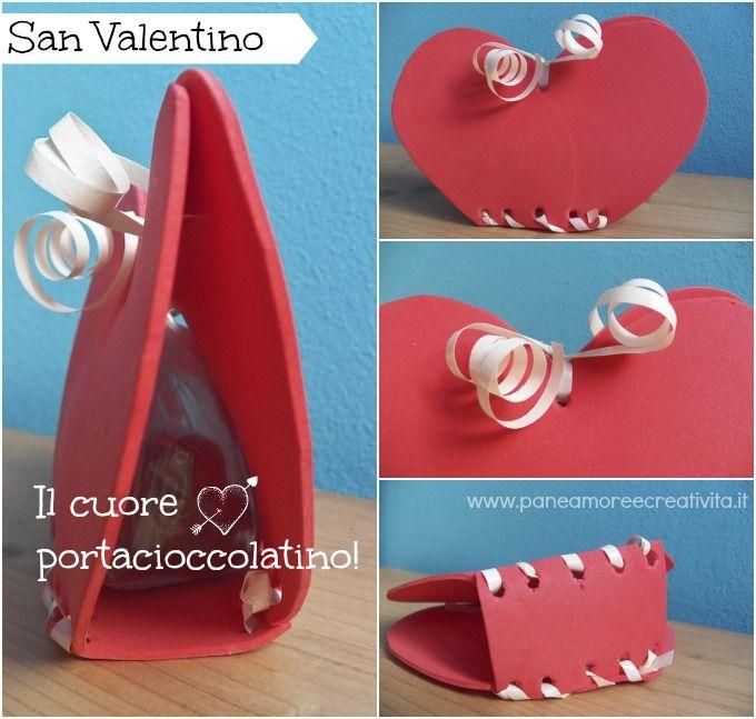 Lavoretti di San Valentino: il cuore porta cioccolatino