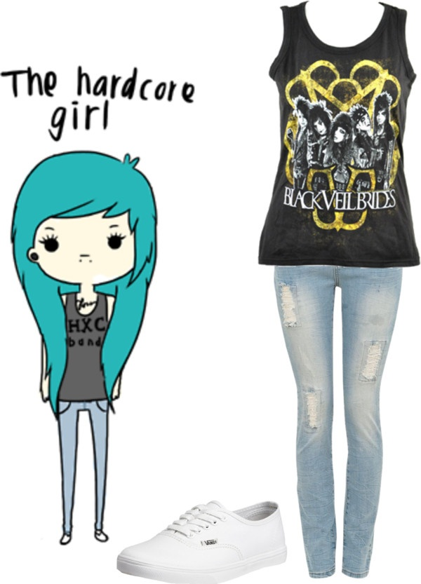 """""""The Hardcore Girl"""" by nialls-princess13 ❤ liked on Polyvore"""