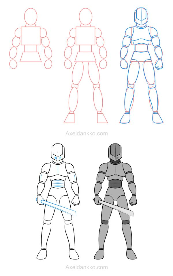 How to draw an armor - Comment dessiner une armure (Dankko)