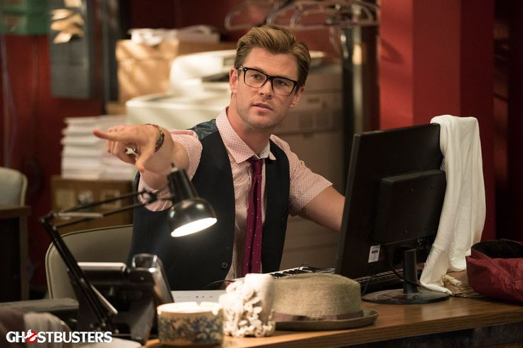 New Ghostbusters Images Feature Closeups and Secretary Chris Hemsworth!