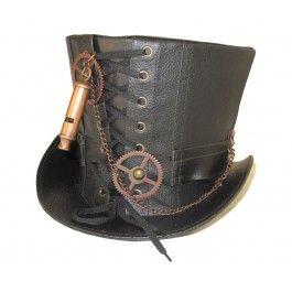 Chapeau Haut de Forme 18cm Rétro Steampunk Sifflet