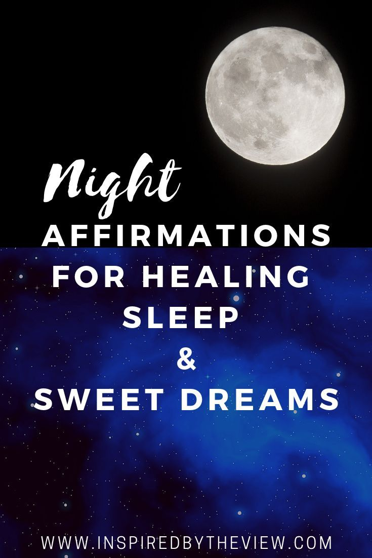 Night affirmations sleep health