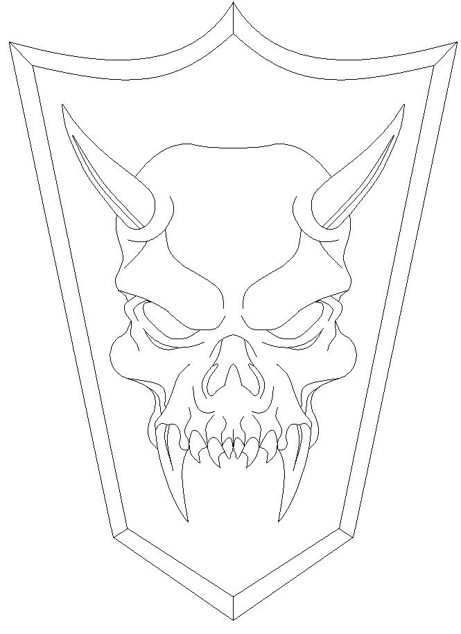 Easy Demon Coloring Pages