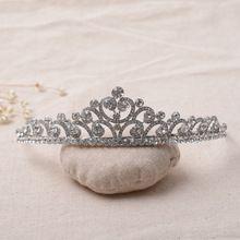 Banhado A prata Barroco Do Vintage Acessórios Para o Cabelo Grande Coração de Cristal Tiara De Noiva Pente de Strass Coroas E Tiaras de Casamento Do Baile De Finalistas alishoppbrasil