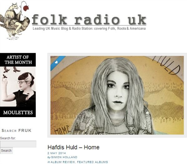 "Hafdis Huld's ""Home"" is Folk Radio UK's Album of the Month! - http://www.okgoodrecords.com/blog/2014/05/02/hafdis-hulds-home-is-folk-radio-uks-album-of-the-month/ -  Sending over a HUGE thank you to Folk Radio UK for not only previously posting ""Queen Bee"" as their ""Song of the Day,"" but for making Hafdis Huld's ""Home"" their Album of the Month AND providing an extensive review of the record: ""Just over a month..."