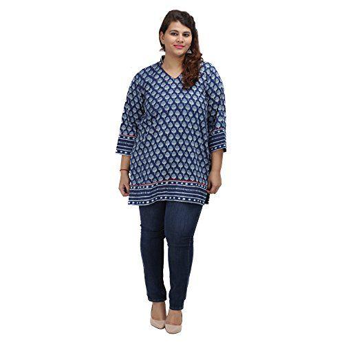 Damyantii Women's Plus Size Straight Blue Cotton 4XL Kurt... http://www.amazon.in/dp/B01G59B0LW/ref=cm_sw_r_pi_dp_x_P4CQxb0TMBHDK