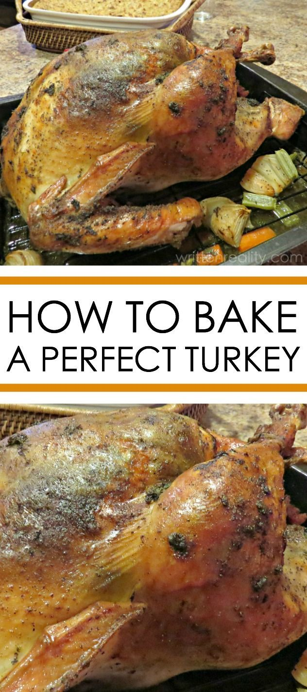 Need to know how to bake a turkey? This baked turkey recipe is super easy to follow. It's tender, juicy and covered in a delicious herbed butter your family and friends will love.