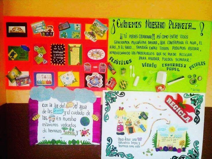Galería de carteles Informativos para campaña Ambiental de Reciclaje con materias reciclados