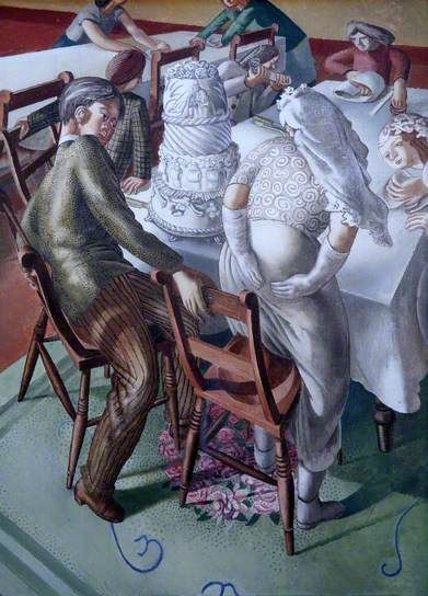 Marriage at Cana, Bride and Bridegroom by Stanley Spencer