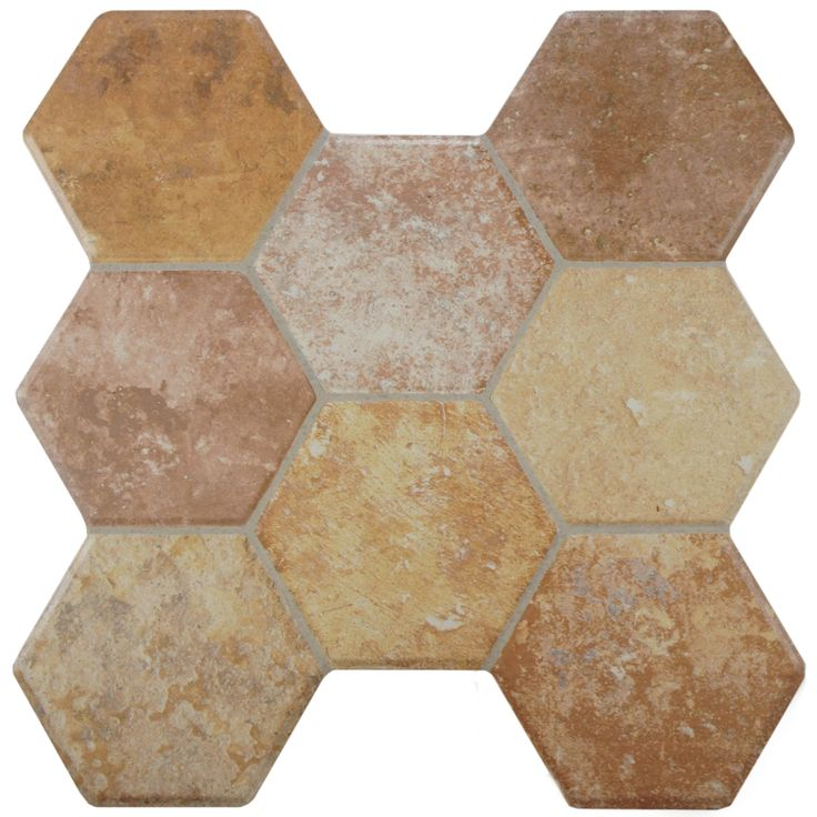 16x16 Floor Tile Design Ideas Aspen Stone Ceramic The Home Depot