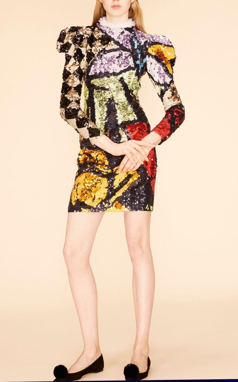 Long Sleeve Sequin Dress by Nina Ricci