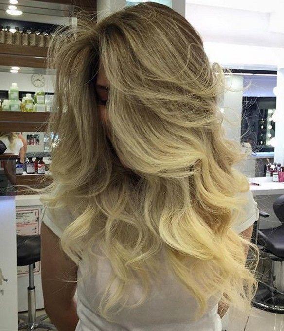 Balyajlı Sarışın Saç Modeli