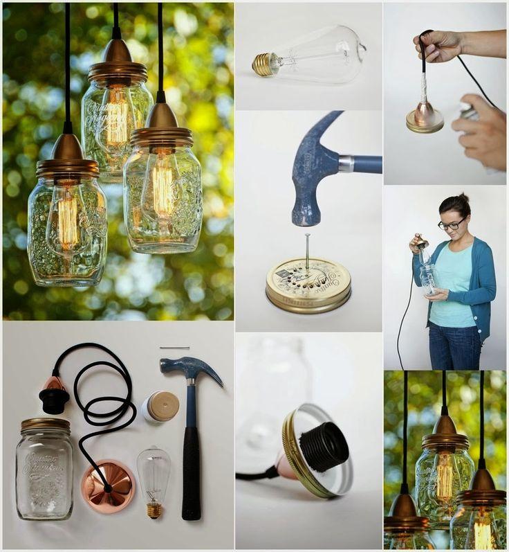 creatief besparen en meer: lampen maken van jampot