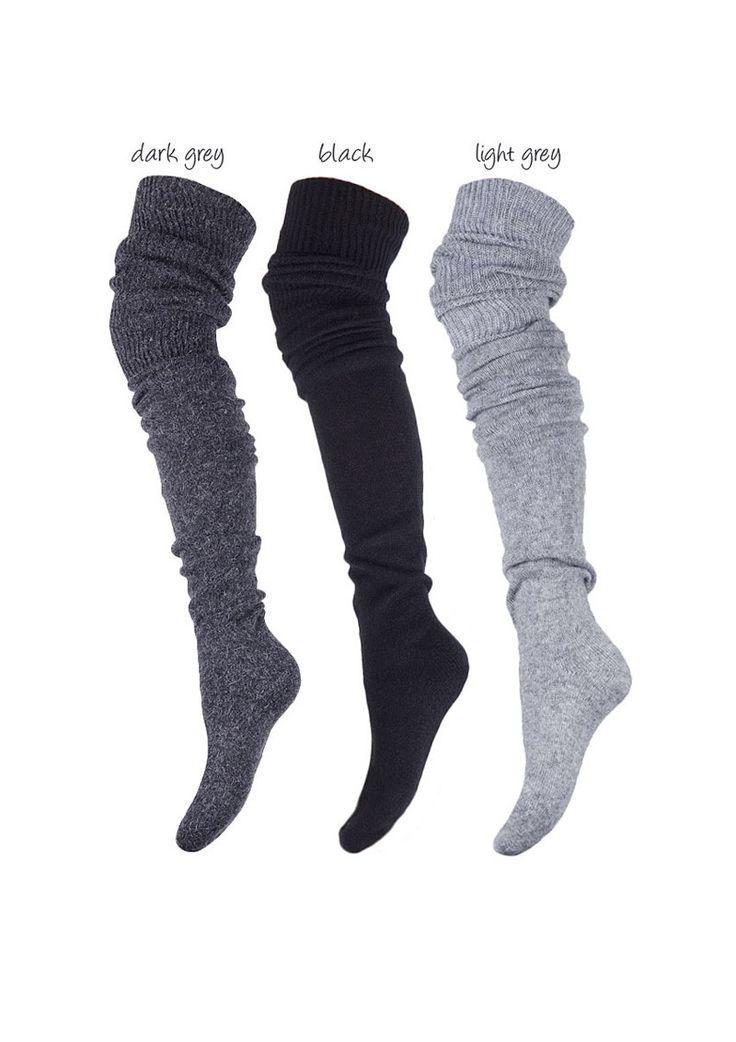 Angora & Wool Over-the-Knee Socks http://thestylishfox.com/over-the-knee-socks/209-zazu-685-angora-over-the-knee-socks.html