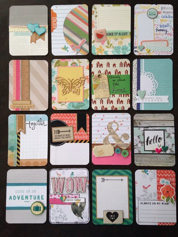 Big set of handmade project life cards! 3x4s galore!