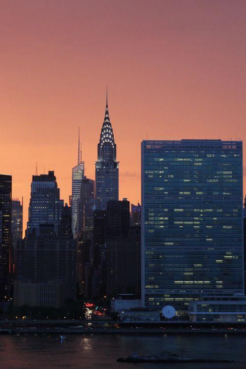 New York sunset by paulbrady