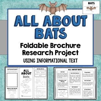 Bats Foldable Brochure Research Project, Using Informational Text, Vocabulary – Absolute Algebra