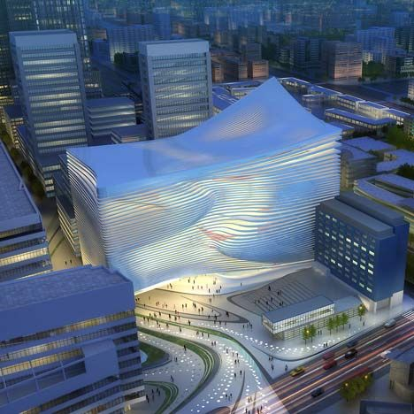 The New Dance and Music Centre in The Hague by Zaha Hadid Architects  #architecture ☮k☮
