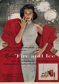 Revlon Fire and Ice lipstick and nail color, a classic red. The collection was launched in 1952, still stylish after 60 years.