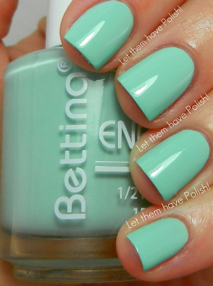 Bettina Orchidea. It's that baby aqua nail polish you've been looking for! Bettina is by far the best and longest lasting nail polish. BETTER than Essie, anyday!