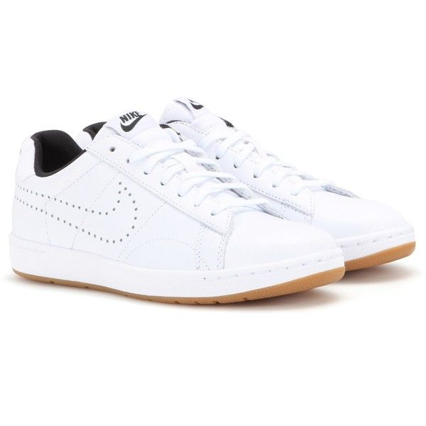 Nike Nike Tennis Classic Ultra Leather Sneakers ($120) ❤ liked on Polyvore featuring shoes, sneakers, white, leather trainers, white leather shoes, genuine leather shoes, leather shoes and tenny shoes