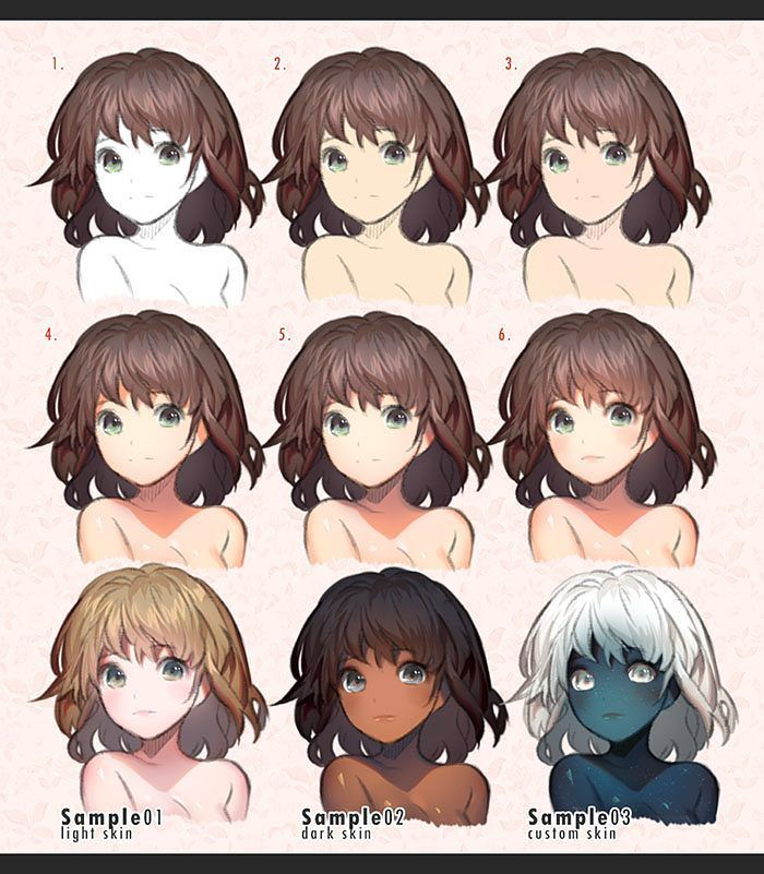 How I Color Human Skin Full Version Gumroad Com Kawacy Digital Art Tutorial Art Tutorials Drawings