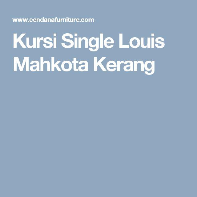 Kursi Single Louis Mahkota Kerang