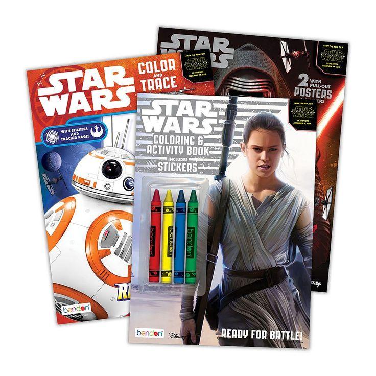 Star Wars: Episode VII The Force Awakens Color & Activity Bundle, Multicolor